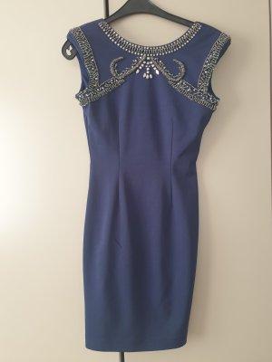 Minikleid in blau mit Palleiten von Little Mistress