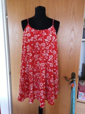 Minikleid in Rot mit Blumenmuster