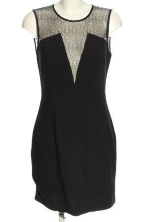 Minikleid in schwarz, extravaganter Stil