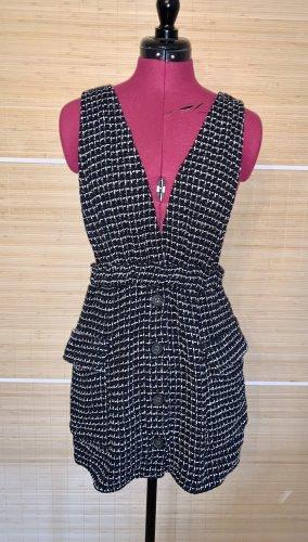 Minikleid in schwarz/weiß
