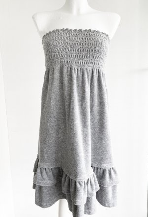 Juicy Couture Sukienka mini srebrny Bawełna