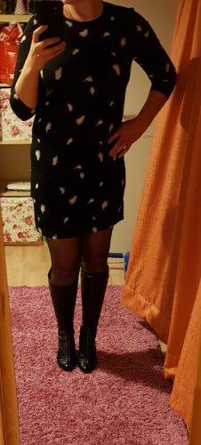 Minikleid Kleid Pieces Gr. M (38) Party Büro Printkleid Mini Neu casual schwarz / weiß / blau