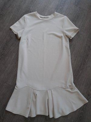 Minikleid Kurzarmkleid Kleid mit Falten-Saum Rock ausgestellt weiß Gr 36-38, wie Neu
