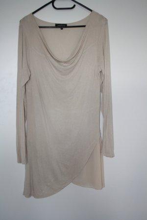 Minikleid Longshirt beige Gr. 40