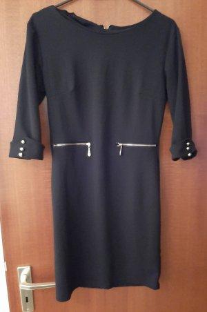 Minikleid Midikleid Kleid Business Elegant Reißverschlüße Knöpfe Gold Strass