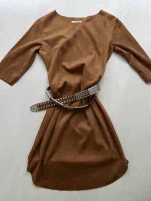 Minikleid mit 3/4 Arm, Gr M (Etikett L), nougatfarben
