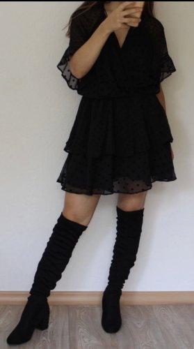 Minikleid mit durchsichtiger Rücken
