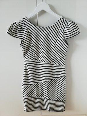 Sisters point Mini vestido blanco-negro