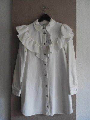 Minikleid mit Volant aus 100% Baumwolle, Jeans Optik, Größe M, neu