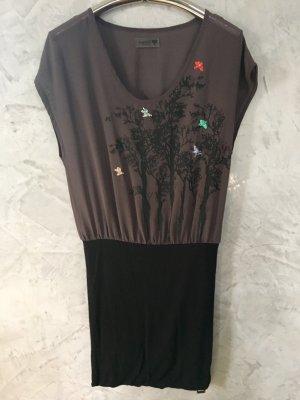Nümph Robe courte noir-gris foncé
