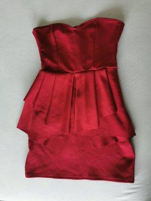 Oh my love Sukienka mini ciemnoczerwony