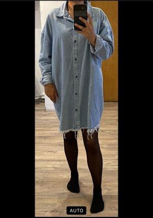 Minikleid Oversized Hemdkleid Hemdbluse Jeanskleid