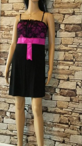 bpc Bustier Dress black-pink mixture fibre