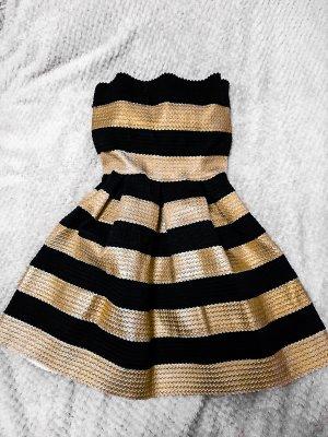 Minikleid Partykleid Streifen schulterfrei  ausgestellt