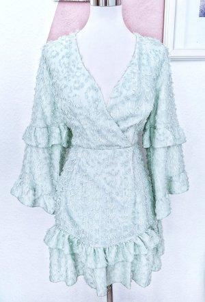 Chiffon Dress sage green polyester