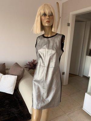 Minikleid .. sexy .. silber / schwarz .. Gr. S/M # Ms. Station # Neu mit Etikett