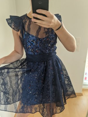 Maje Lace Dress dark blue