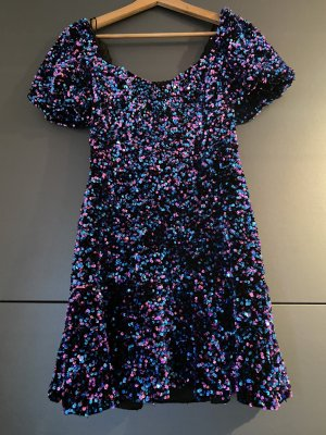 Zara Vestido de lentejuelas violeta oscuro-lila