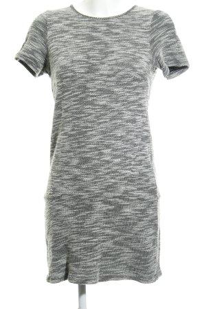 Minikleid weiß-schwarz meliert Casual-Look