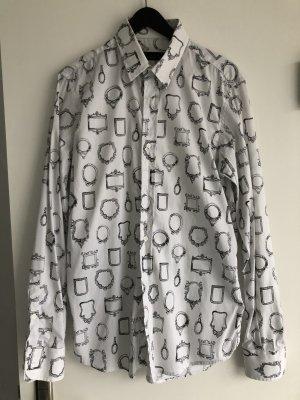 Minimal Hemd/Bluse weiß mit Spiegel