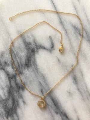 Minimalistische Halskette mit Anhänger von Tosh vergoldet
