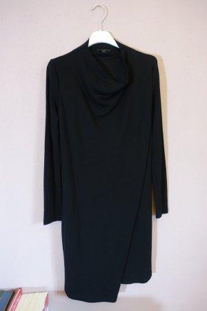 minimalistisches kleid, asymmetrisch, cos, wasserfallkragen