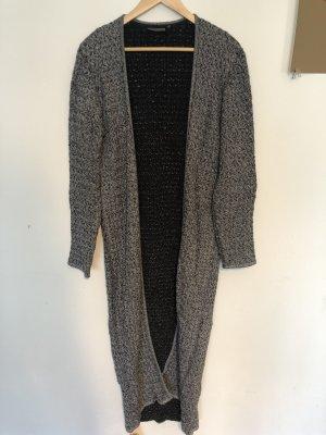 Minimum Manteau en tricot noir-gris coton