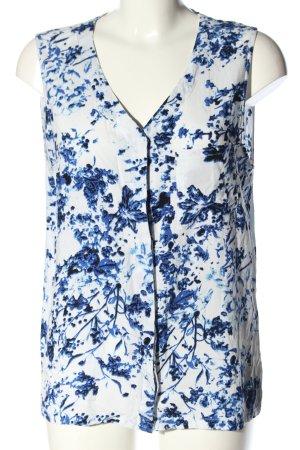 Minimum Blusa sin mangas blanco-azul estampado repetido sobre toda la superficie