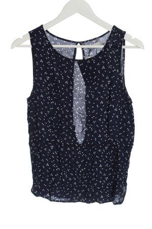 Minimum Sleeveless Blouse blue-white spot pattern casual look