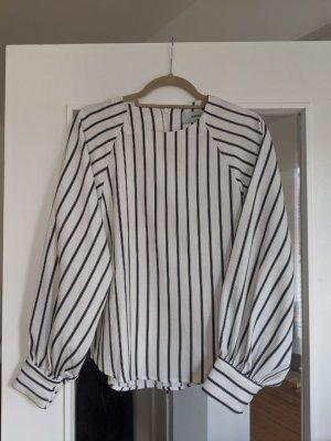 Minimum Bluse mit Puffärmeln, gestreift