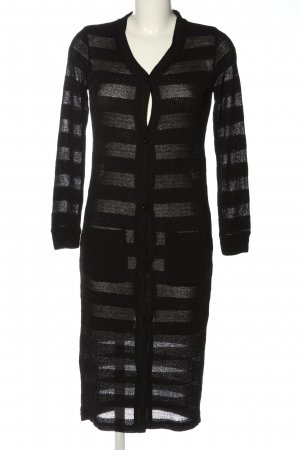 Minimum Cardigan noir motif rayé style décontracté