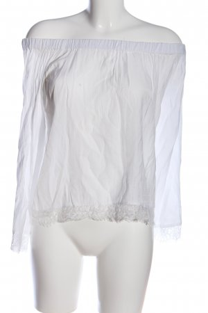 Minimum Carmen-Bluse weiß Casual-Look