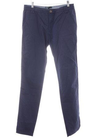 Minimum Pantalon chinos bleu foncé style décontracté