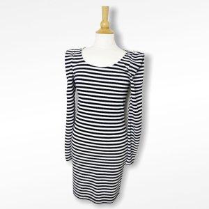 Minimum Robe mi-longue noir-blanc