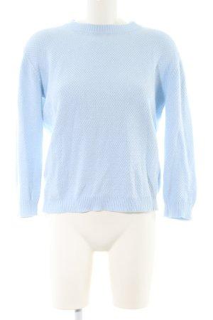 Minimum Häkelpullover blau Casual-Look