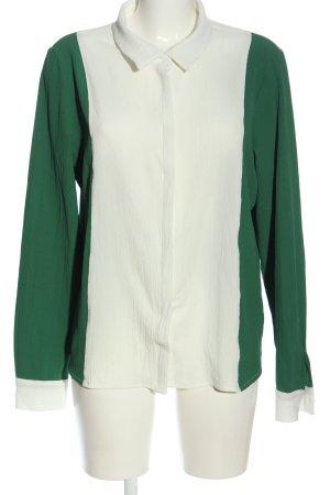 Minimum Hemd-Bluse weiß-grün Casual-Look