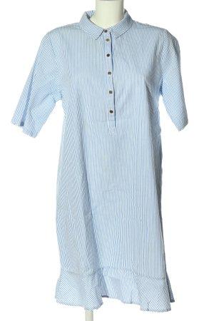Minimum Koszulowa sukienka niebieski-biały Na całej powierzchni W stylu casual