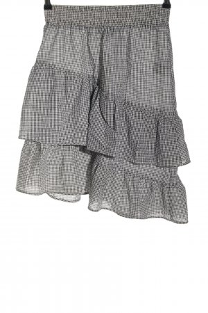 Minimum Spódnica z wysokim stanem czarny-biały Na całej powierzchni