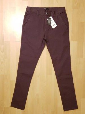 Jeans a carota rosso mora Cotone