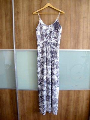 Minimum Kleid 38 Batik grau weiß Abendkleid Sommerkleid