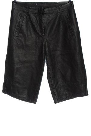 Minimum Spodnie z imitacji skóry czarny W stylu casual