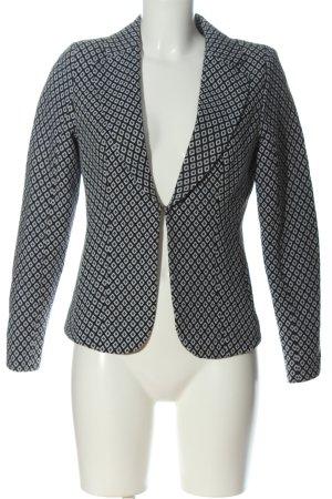 Minimum Kurz-Blazer schwarz-weiß Allover-Druck Business-Look