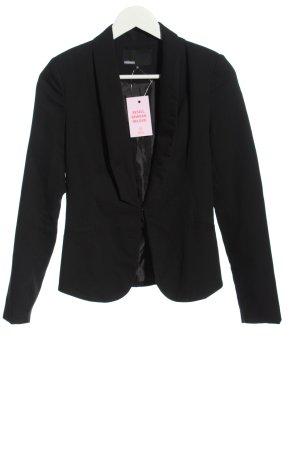 Minimum Kurz-Blazer schwarz Casual-Look