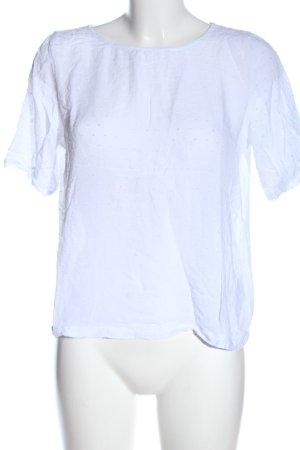 Minimum Blouse à manches courtes blanc style décontracté