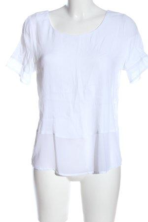 Minimum Kurzarm-Bluse weiß Casual-Look
