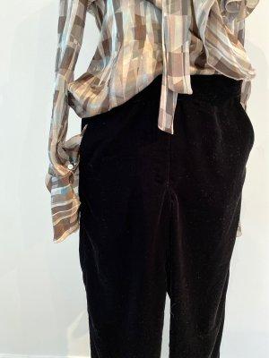 Minimum Pantalón anchos negro Poliéster