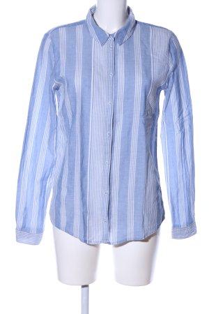 Minimum Langarm-Bluse blau-weiß Streifenmuster Casual-Look