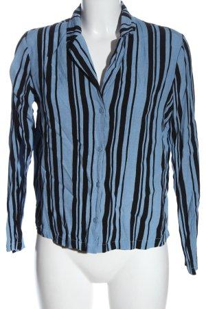 Minimum Chemise à manches longues bleu-noir motif rayé style décontracté