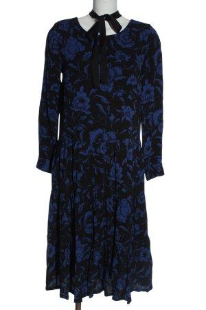 Minimum Vestido de manga larga negro-azul look casual