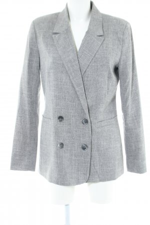 Minimum Long-Blazer hellgrau meliert Business-Look